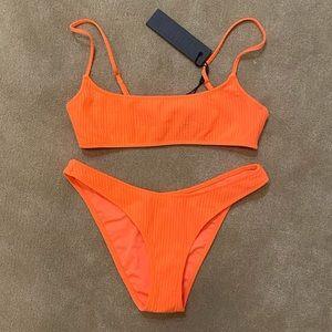 Orange pipa triangl bikini